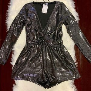 H&M medium glitter romper